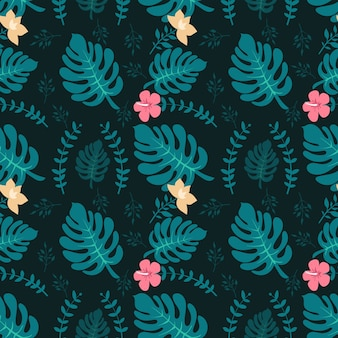 Tropische achtergrond met palmbladen