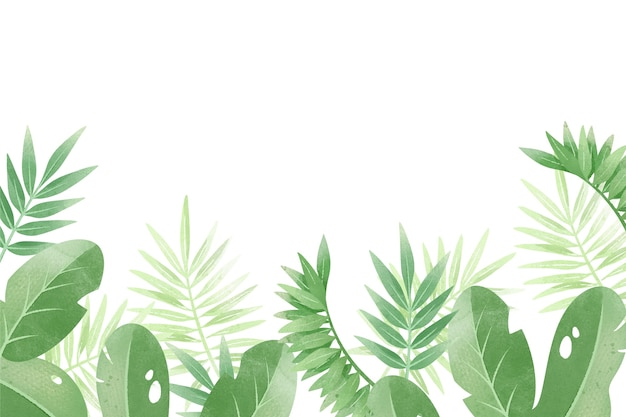 Tropische achtergrond met witte ruimte