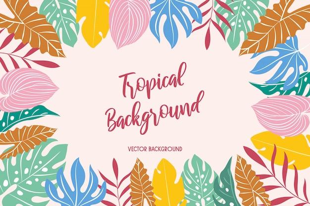 Tropische achtergrond. vector achtergrond