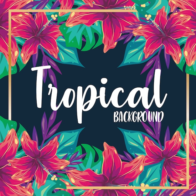Tropische achtergrond vector