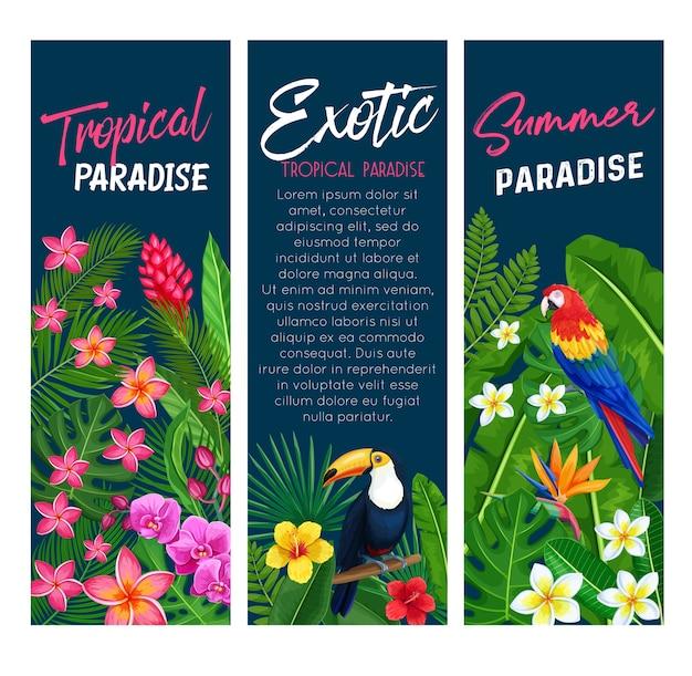 Tropische banners.