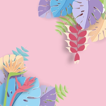 Tropische bladdocument kunst grafische achtergrond