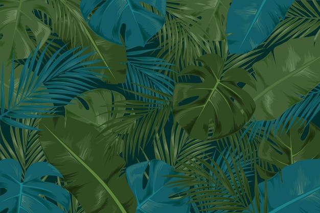 Tropische bladeren achtergrond concept