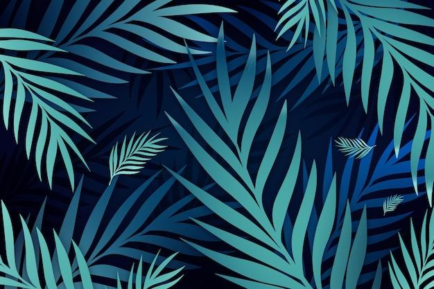 Tropische bladeren achtergrond voor zoom
