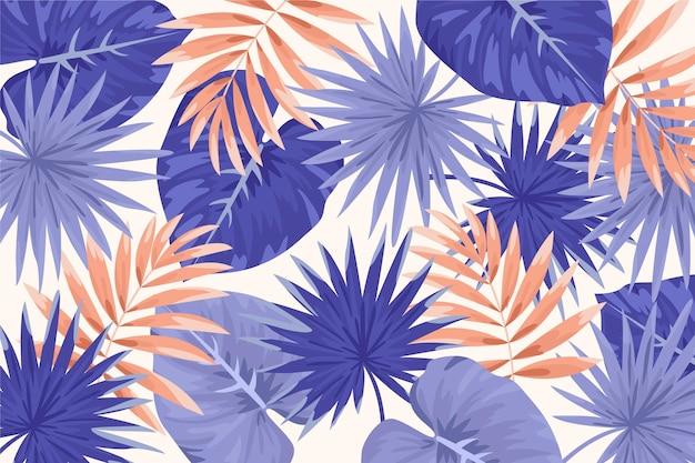 Tropische bladeren achtergrond