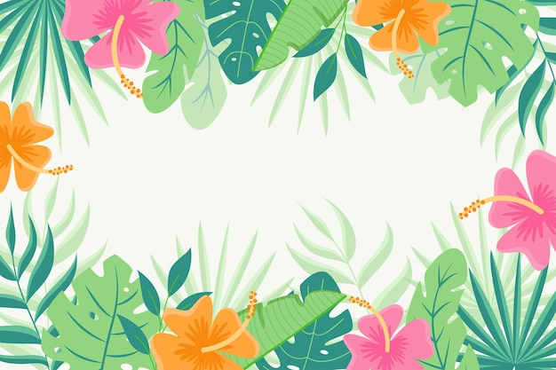 Tropische bladeren achtergrondontwerp