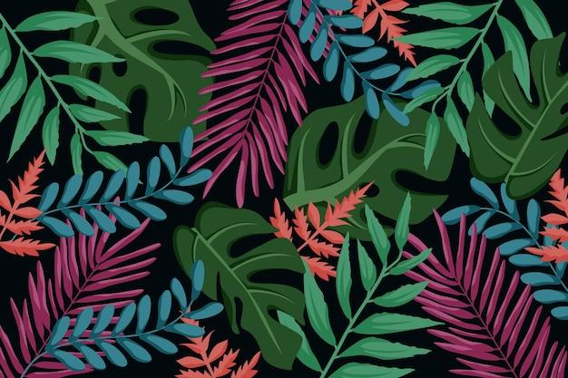 Tropische bladeren achtergrondstijl