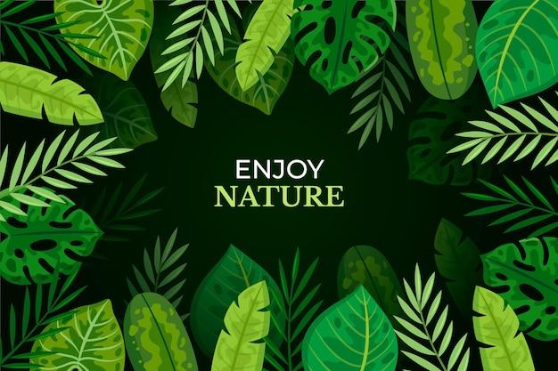 Tropische bladeren behang