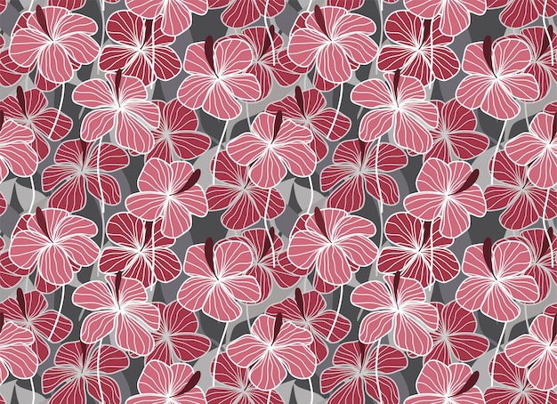 Tropische bladeren en bloemen naadloos patroon