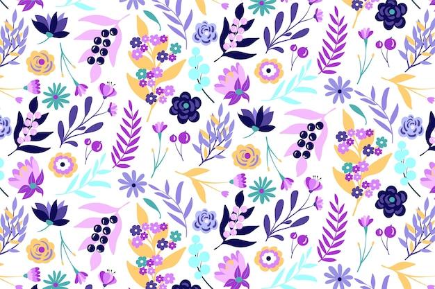 Tropische bladeren en bloemen patroon