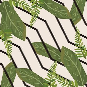 Tropische bladeren met strepen