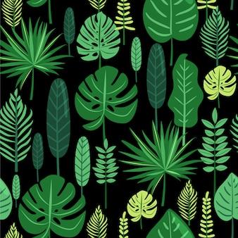 Tropische bladeren naadloos patroon.