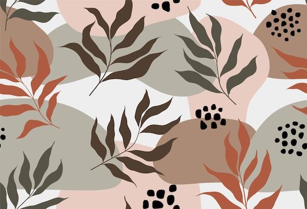 Tropische bladeren naadloos patroon