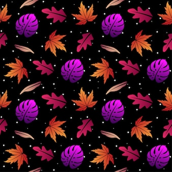 Tropische bladeren naadloze patroon achtergrond