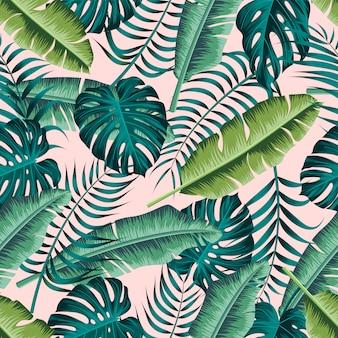 Tropische bladeren naadloze patroon