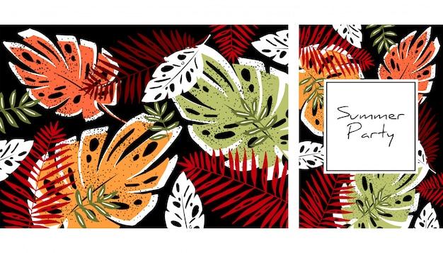 Tropische bladeren patroon