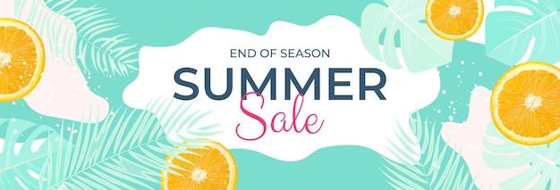 Tropische bladeren zomer verkoop achtergrond vector illustratie eps10