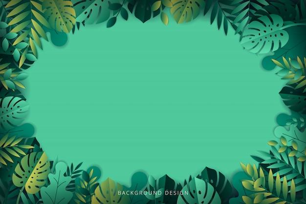 Tropische bladerenachtergrond. illustratie