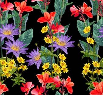 Tropische bloem naadloos