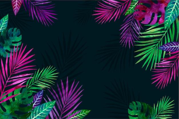 Tropische bloemen achtergrond voor zoom