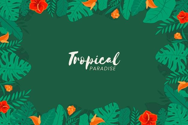 Tropische bloemen achtergrond