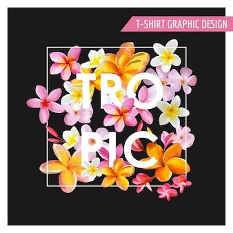 Tropische bloemen grafisch ontwerp