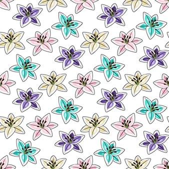 Tropische bloemen naadloos patroon