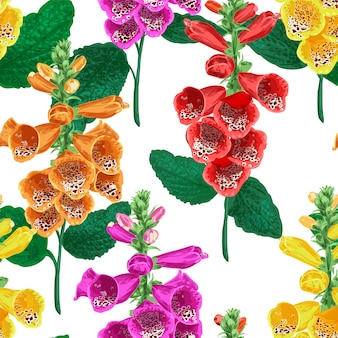 Tropische bloemen naadloze patroon achtergrond