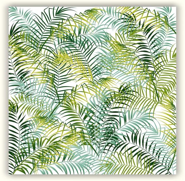 Tropische bloemen naadloze vectorpatroonachtergrond.