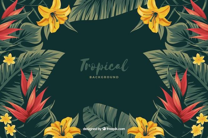 Tropische bloemenachtergrond