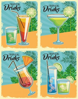 Tropische cocktails poster
