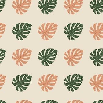 Tropische creatieve plant naadloze patroon. monstera vertrekt