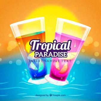 Tropische dranken achtergrond