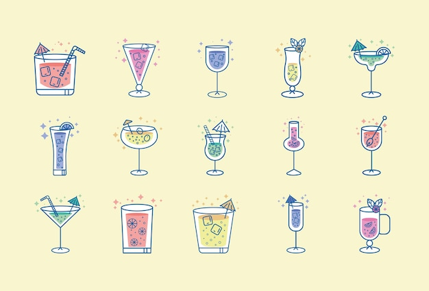 Tropische drankjes set