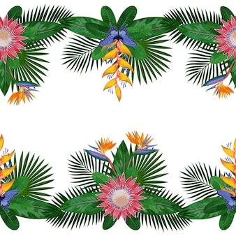 Tropische dubbele naadloze rand