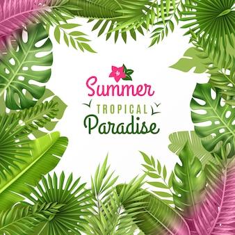 Tropische gebladerte decoratieve achtergrond