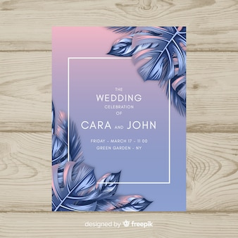 Tropische huwelijksuitnodiging