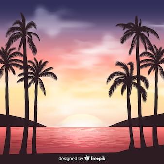 Tropische landschapsachtergrond