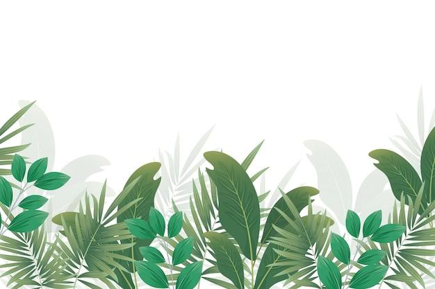 Tropische muurschildering behang concept