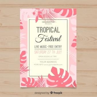 Tropische muziekfestivalaffiche