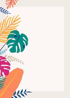 Tropische ontwerpruimte