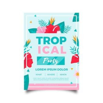 Tropische partij poster concept