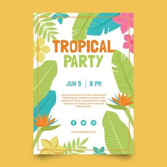 Tropische partij poster sjabloon