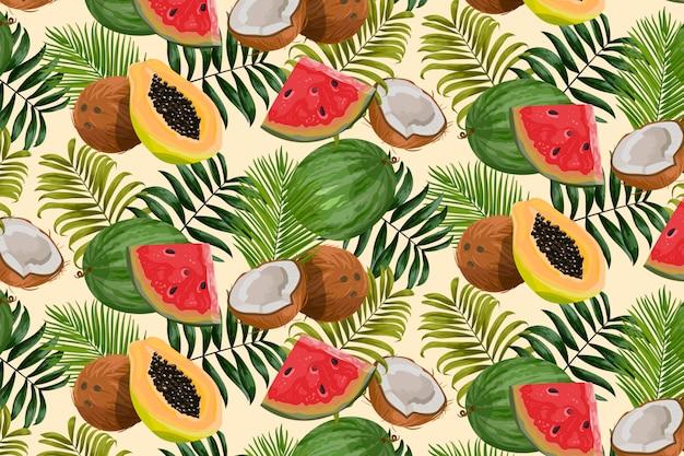 Tropische patroonachtergrond