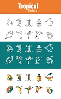 Tropische pictogrammen