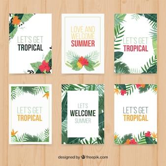 Tropische planten kaart collectie