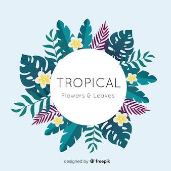Tropische planten krans achtergrond