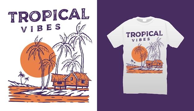Tropische vibest-shirt
