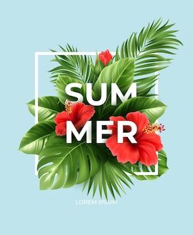 Tropische zomer achtergrond