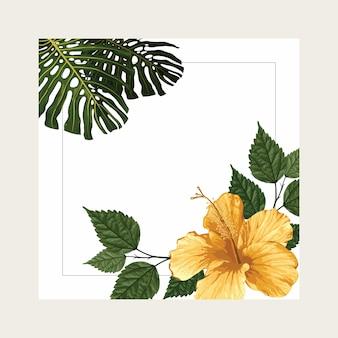 Tropische zomer achtergrondontwerp met frame